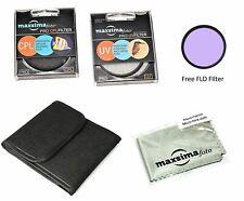 Maxsimafoto - 52mm Filter Set, UV CPL FLD for Nikon Lenses 18-55mm (NOT AF-P)