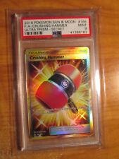 PSA-9 FULL ART Pokemon CRUSHING HAMMER Card ULTRA PRISM Set 166/156 Sun Moon SM