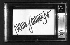 NANCY CARTWRIGHT BART SIMPSON VOICE CARD CUT SIGNED AUTOGRAPHED BECKETT BAS
