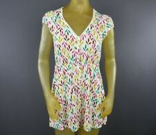 Forever 21 Small Sheath Short Dress Leaves Lace Trim Hippie Rayon Multi-Color