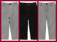 "NWT Boys 7 10 Gymboree ""HOLIDAY TRIMMINGS"" Gray & Pin Stripe DRESS PANTS SLACKS"