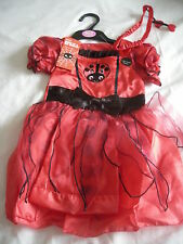 M&s Fancy Dress Halloween Fille Coccinelle Dressing Up Costume 12-24 mois-NEUF