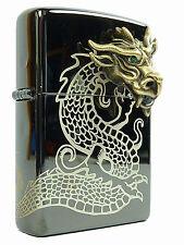 Zippo Golden Dragon Head 3D Limited Edition Chinesischer Drache Ebony, limitiert