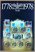 Francobolli Italia 1978 - 200 anni Scala - diversi valori - annulli teatro Scala