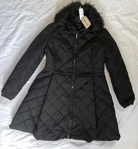 James Lakeland Ladies Size 16 Longline Black Puffer Coat