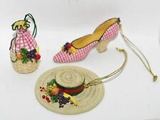 Willitts Sandy's Closet Juliette Ornaments Miniature High Heel Shoe Hat Handbag