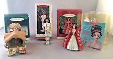 3 Hallmark Keepsake Collector Ornaments~Holiday Barbie + Native American Barbie