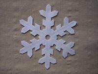 x4 FELT LARGE 12.5cm SNOWFLAKES - WHITE die cut Christmas decorations appliqués
