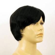 Perruque homme 100% cheveux naturel noir ref VICTOR 1b