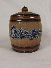 Doulton Lambeth Tobacco Jar & Cover c.1885