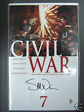 RARE civil war # 7 signed steve McNiven ltd  to 200 copies MINT CONDITION