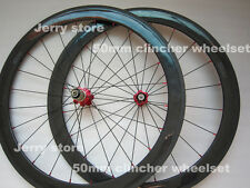 700c 50mm clincher carbon wheels/carbon road cycle wheelset,brake pads free