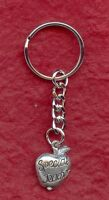 Teacher Keyring keychain pewter Great Gift idea Apple key chain ring special