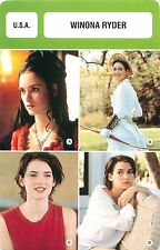 FICHE CINEMA USA  Winona Ryder  Actrice Actress