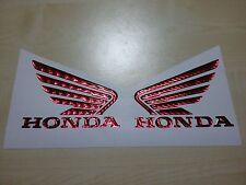 cp. adesivi stickers moto resinati 3d ali honda rosso cromo cbr rr hornet 135 mm