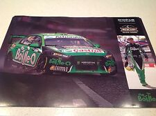 V8 SUPERCARS FORD PRODRIVE MARK WINTERBOTTOM MOTOR RACING TEAM POSTER bottle O