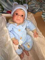 """Lee Middleton Original Doll Limited """"Cuddle Cub"""" Lifelike Baby Boy Blonde ~ New"""