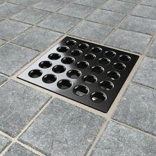 EBBE Square Tile Shower Drain  ( ESD-BI ) Black Iron Finish