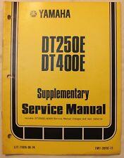 m Original 1977 Yamaha Supplementary Service Manual DT250E/DT400E