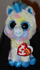 """Ty Beanie Boos ~ BLITZ the 6"""" Size Multi Color Unicorn ~ 2017 NEW ~ IN HAND"""