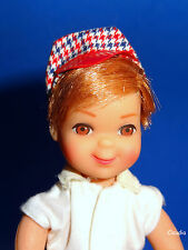 Vintage 1965 MATTEL TODD #3590 Tutti's Twin Brother w/ SHORTS SHIRT CAP Nr MINT