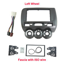 Car Radio Double Din Dash Kit Harness for Honda Jazz Fit Fascia Plate Facia Trim