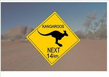 Australian Style Road Sign Australia Road Sign Novelty Fun Kangaroos Sign