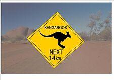 Segnale STRADALE stile australiano Australia Cartello Stradale Novità Divertente CANGURI sign