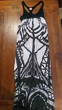 S&B contqur lines black & white maxi dress sz2 preowned free post D57