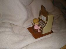 Christmas Collectible, Angel at Pipe Organ Music Box, Vintage Hong Kong