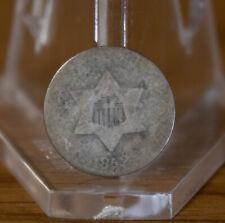 1852 3 Three Cent Silver
