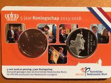 Nederland coincard 5 jaar koningschap 2013 - 2018