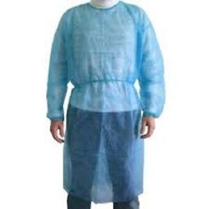 camice chirurgico sterile imbustato singolarmente in tnt azzurro