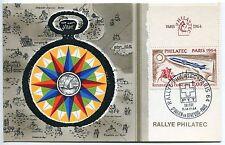 CARTE MAXIMUM RALLYE PHILATEC 1964 SUISSE ST JULIEN EN GENEVOIS PARIS