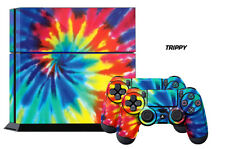 Designer Skin PS4 Playstation Sticker 4 Console Controller Wraps Decals TRIPPY