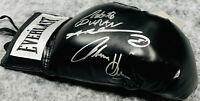 Sugar Ray Leonard Duran Hearns Signed Black Boxing Glove Beckett Witnessed