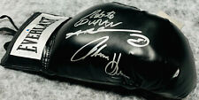 Sugar Ray Leonard Duran Hearns Signed Black Boxing Glove Beckett Witnessed