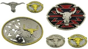 belt buckles lot 6 pieces Collection Men Vintage Bull Rodeo Western Chopper New