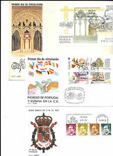 España. Conjunto de sobres Primer dia de los años 1985 a 1989 con valor de 86.45