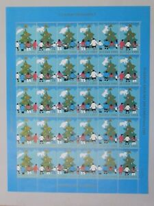 Greenland Christmas Stamps Seal Caritas 1991 MNH UNFOLDED full set