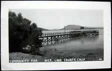 NICE CA ~ 1940's LAKE COUNTY ~ COMMUNITY PIER ~ Real Photo PC  RPPC
