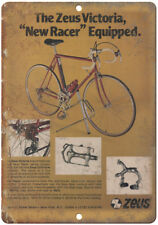 "Zeus Victoria 10 speed Bicycle Ad 10"" x 7"" Reproduction Metal Sign B308"