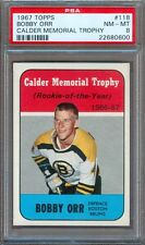 1967 TOPPS HOCKEY #118 BOBBY ORR BRUINS CALDER MEMORIAL TROPHY PSA 8