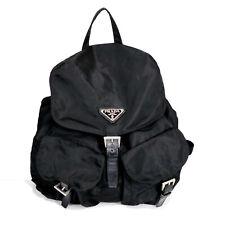 PRADA Nylon Backpack Black Used Auth 16-3