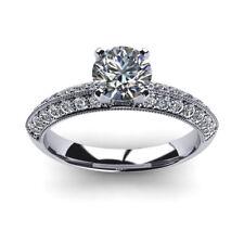 1.00 Ct Round Cut Genuine Real Diamond Engagement Ring 950 Platinum Size L