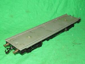 Vintage Bing O gauge tinplate bogie flat wagon