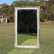 Embossed Wall Mirror With Silver Colour Wooden Framed 112cm X 70cm