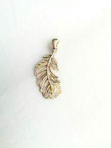 Sterling silver Peacock feather pendant Sea Gems Pure Origins