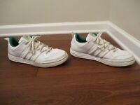 Classic 2005 Used Worn Size 13 Adidas Tennis Shoes White & Green
