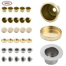 10 Metal Candle Cups Standard Tapered Wax Pegs Brass for Lamp Candle Making 26mm